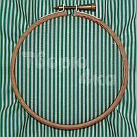Ткань для пэчворка, кукл тильда зеленая в полосочку