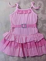 Летний розовый сарафан для девочки
