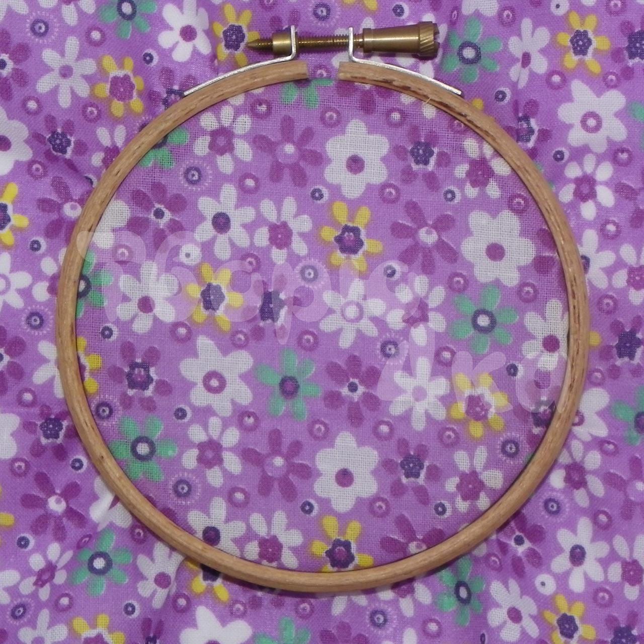 Ткань для пэчворка, кукл тильда фиолетовая в цветочек