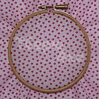Ткань для пэчворка, кукл тильда розовая в цветочек