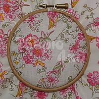 Ткань для пэчворка, кукл тильда в цветочек