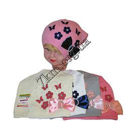 Детские Вязанные шапки оптом