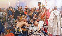 Письмо запорожцев турецкому султану. Картина Репина