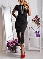 """Женское платье длина миди """"Исида блэк"""", до 50 размера"""