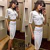 Костюм с вставками сеточки юбка-карандаш+кофточка на молнии, фото 3