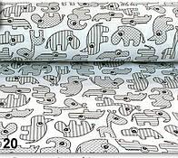 Ткань хлопковая с носорогами серого цвета (№20).