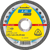 Круг отрезной по металлу Kronenflex® (Klingspor) A 46 Extra 125х1,6х22,23