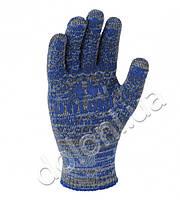 Перчатки рабочие трикотажные с ПВХ точкой ар.4245