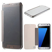 Чехол книжка Clear View Cover для Samsung Galaxy S7 Edge G935 серый