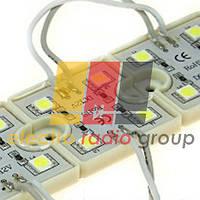Светодиодный модуль рекламный MR4S5050W 4 белых светодиода SMD5050 IP66