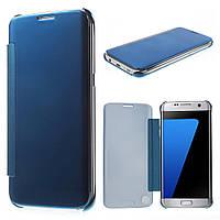 Чехол книжка Clear View Cover для Samsung Galaxy S7 Edge G935 голубой