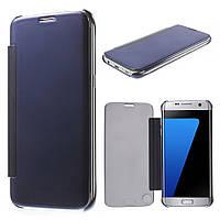 Чехол книжка Clear View Cover для Samsung Galaxy S7 Edge G935 синий