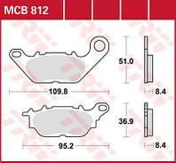 Тормозные колодки Yamaha TRW / Lucas MCB812