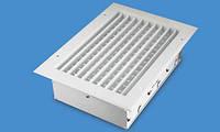 Решетка регулируемая двухрядная с демпфером, регулировка механическая (с демпфером) EMC-UP 100х100