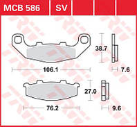 Тормозные колодки Kawasaki / Suzuki TRW / Lucas MCB586