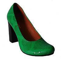 Женские кожаные туфли на каблуке, возможен отшив в других цветах кожи и замши
