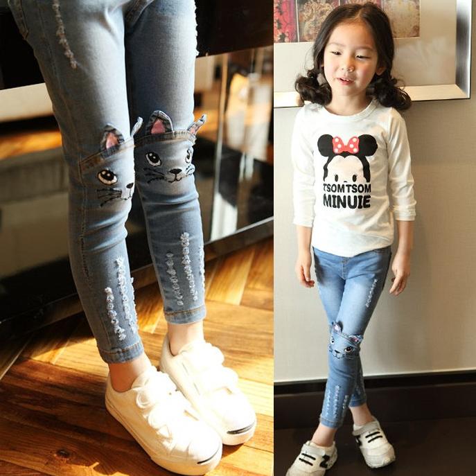 Модні джинси для дівчинки весна осінь  продажа bbf905eee3bd1
