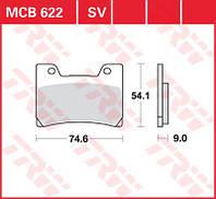 Мото тормозные колодки для Yamaha TRW / Lucas MCB622