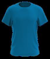 Футболка мужская хлопковая бирюзового цвета