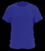 Футболка мужская из натурального хлопка синего цвета