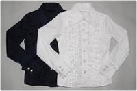Школьная форма блуза блузка дев. белый 100%  хлопок 98519 Pinetti,  Италия 140(р)