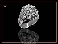 Религиозные серебряные кольца мужские
