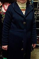 Женское вязаное пальто-кардиган большого размера №731