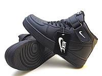 Кроссовки Nike Air Force высокие, черные, фото 1