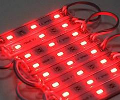 Свiтлодiодний модуль DX 5730-3 led R 1,5W 6500K, 12В, IP65 червоний