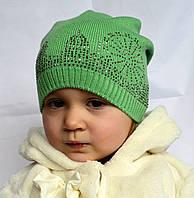 Детская вязаная шапочка с камнями, фото 1