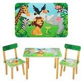 Детский столик со стульчиками 501-11 Джунгли