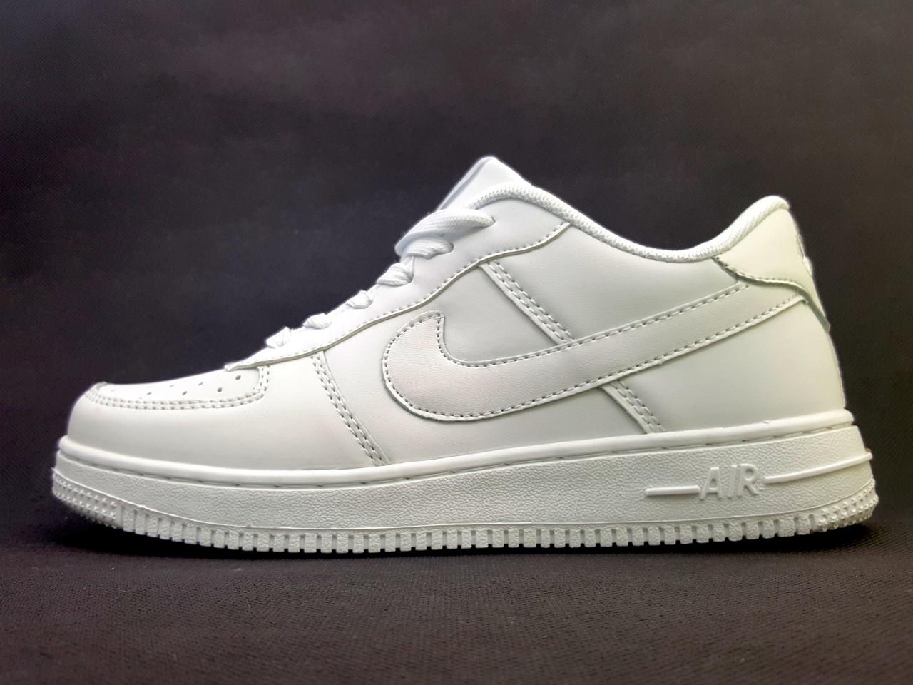 Кроссовки Найк Аир Форс Nike Air Force низкие, белые