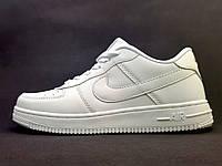 Кроссовки Найк Аир Форс Nike Air Force низкие, белые, фото 1
