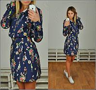 Женское джинсовое красивое платье