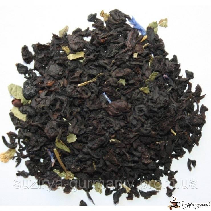 Черный ароматизированный чай Teahouse Черника в йогурте, фото 1