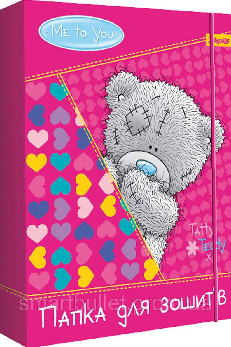 Папка для тетрадей картонная, на резинке, 3 дизайна (для девочек) 1 Вересня 500194