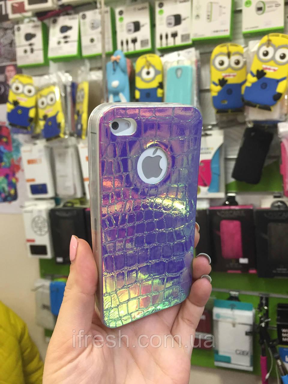 Чехол силиконовый ХАМЕЛЕОН для iPhone 6/6s, голубой/розовый