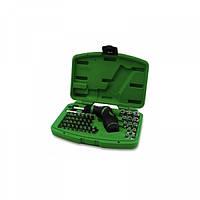 Набор торцевых головок и бит 1/4 Toptul с трещоточной отверткой пистолетного типа GAAI5401