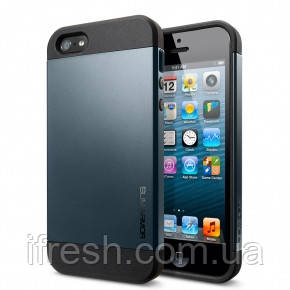 Чехол SGP Slimarmor для iPhone 5/5s, темно - синий
