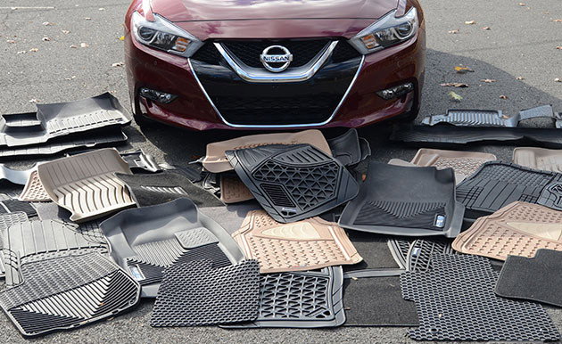 Выбор резинового коврика в автомобиль