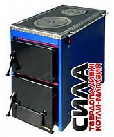 Твердотопливный котел плита Корди АКТВ 16 кВт на дровах и угле
