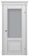 """Межкомнатные шпонированные двери """"Неаполь ПО"""" со стеклом 2-х сторонний сатин"""