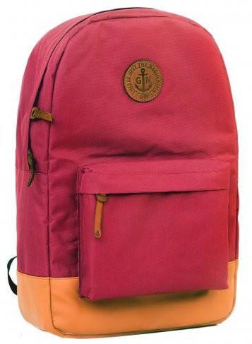 Молодежный городской рюкзак с отделением для нетбука (планшета, iPad) на 17 л GIN БРОНКС XL-burgundy
