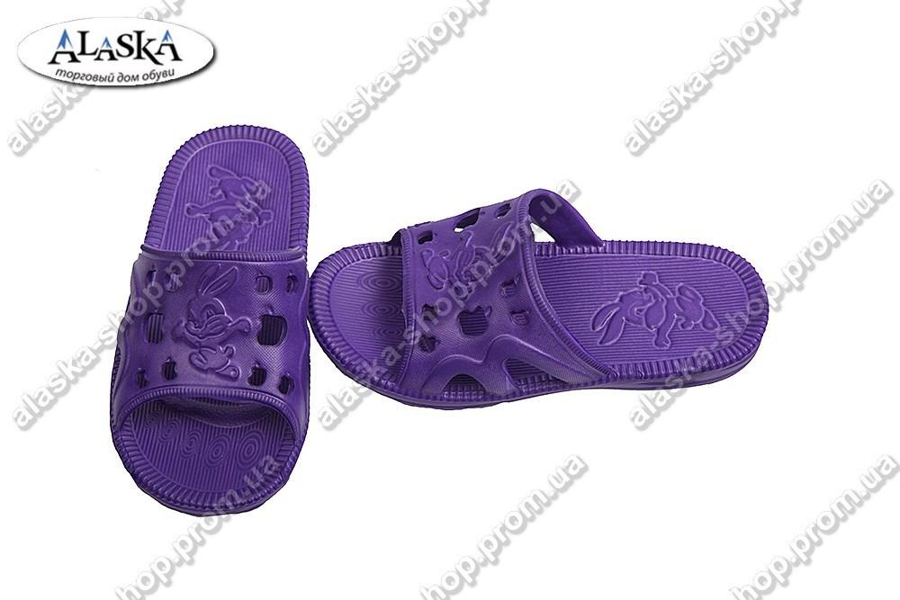 Детские шлепанцы фиолетовые (Код: Зайчик)