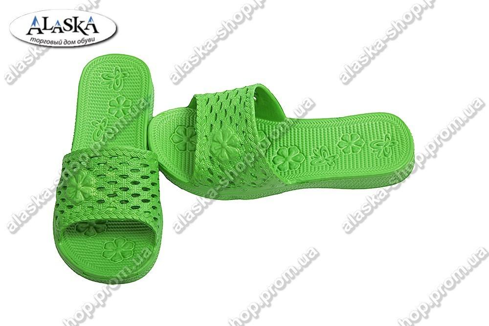 Детские шлепанцы зеленые (Код: Девочка)