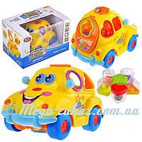 Музыкальная развивающая игрушка сортер Автошка 9170: 6 фигур-фруктов для сортировки