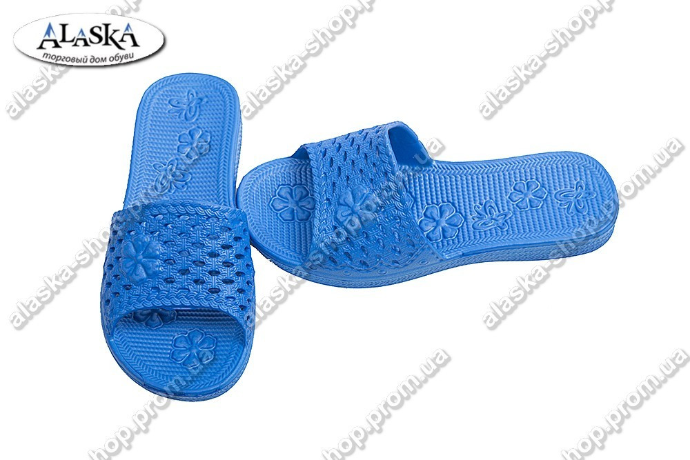 Детские шлепанцы синие (Код: Девочка)