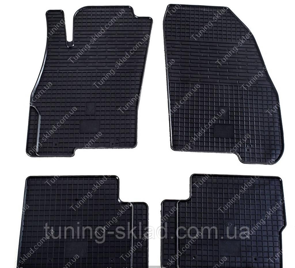 Резиновые коврики Фиат Пунто в салон (коврики для Fiat Punto c 2006 года выпуска)