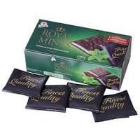 Черный шоколад с мятной прослойкой Royal mints 0.400  гр. ж/б
