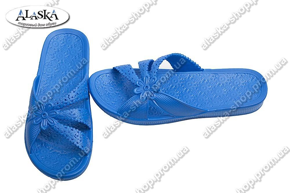 Женские сланцы синие (Код: Ромашка)